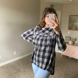 FREE PEOPLE | Vintage Over sized Plaid Tunic Top